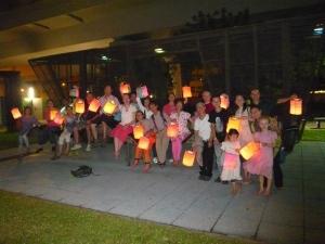 Photo of yogis playing lantern
